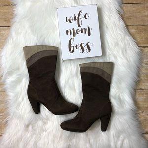 predictions mid calf 3 tone heel boots size 6